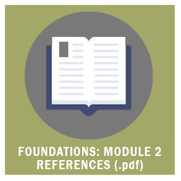 Foundations: Module 2 References (.pdf)
