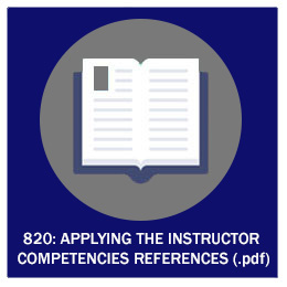 820: Applying the Instructor Competencies References (.pdf)