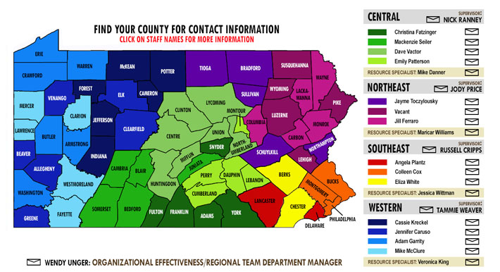 Click map to find your CWRC Contact Info